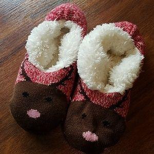 Christmas Deer Slipper Socks With Grip